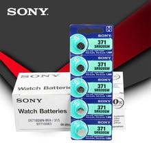 100pc sony 100% original 371 sr920sw 920 1.55 v assista bateria sr920sw 371 botão da pilha da moeda feita no japão