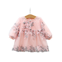 Spring Baby Girls Clothing Lace Embroidery Floral Lovely Pri