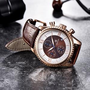 Image 5 - Часы наручные BENYAR Мужские кварцевые, модные спортивные брендовые роскошные, с кожаным ремешком