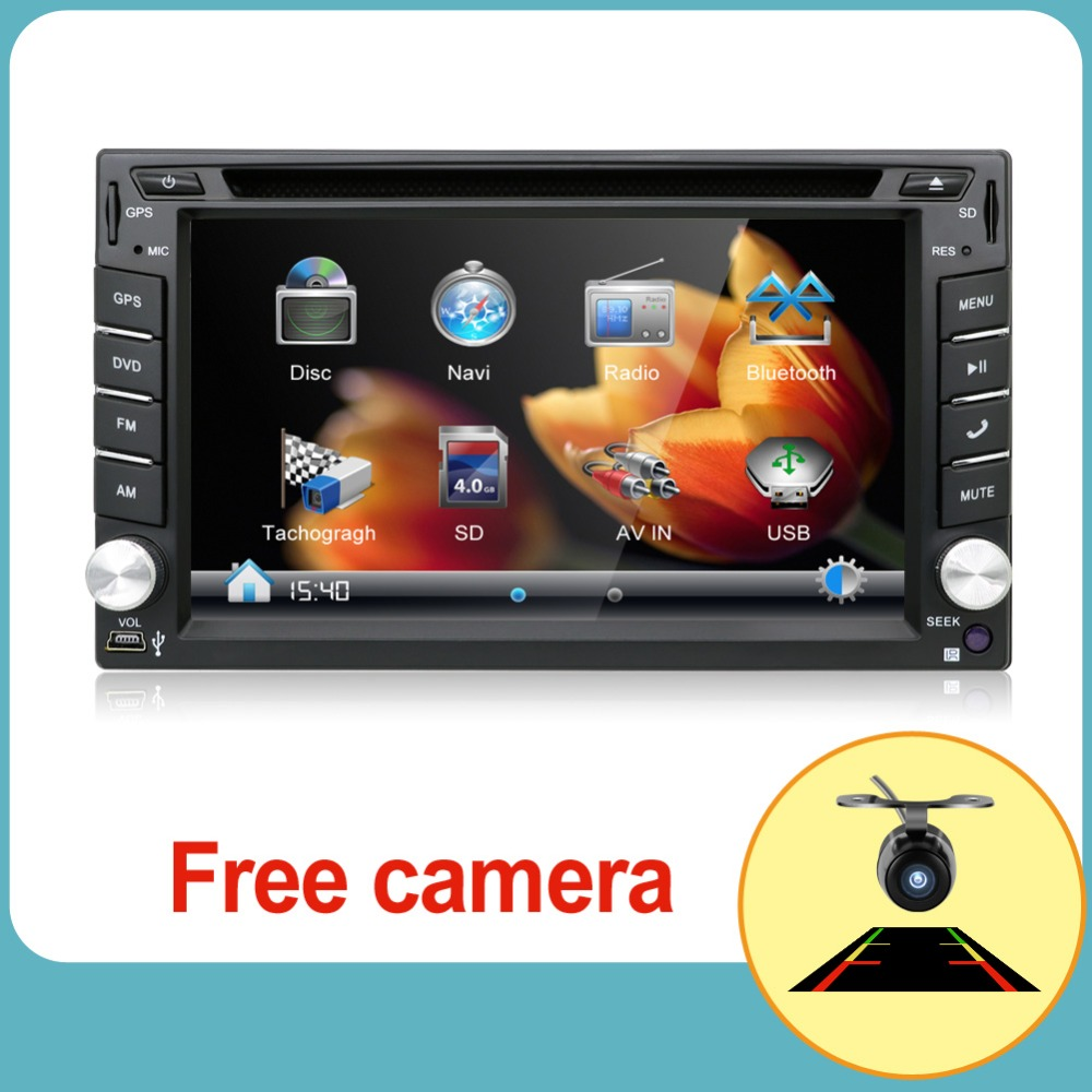 Car DVD player GPS Radio Bluetooth 2 din universal for X-TRAIL Qashqai x trail juke for nissan Stereo Radio Bluetooth USB/SD цена 2017