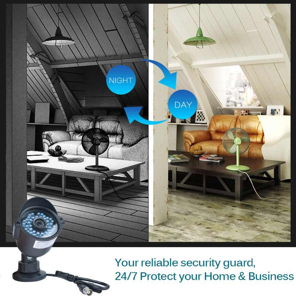 System kamer CCTV 4 sztuk 720P 1080P na zewnątrz wodoodporna kamera monitoringu zestaw 8CH DVR dzień noc analogię kamera bezpieczeństwa IP zestaw DVR