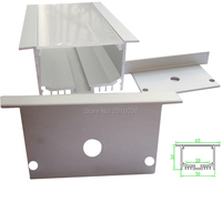 10 X 2M Sets/Lot Recessed wall led alu profile Large T size aluminium led extrusions for ceiling mounted lighting