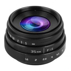 Image 2 - 35mm F1.6 CCTV C góra duża przysłona obiektyw do Sony NEX M4/3 FX adapter obiektywu f/1.6 maksymalna przysłona mikro pojedyncza soczewka