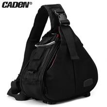 лучшая цена Caden Shoulder Camera Bags Backpack Men Women Orange Black Khaki Digital Camera Sling Canvas Soft Bag For Canon Nikon New K1 K2