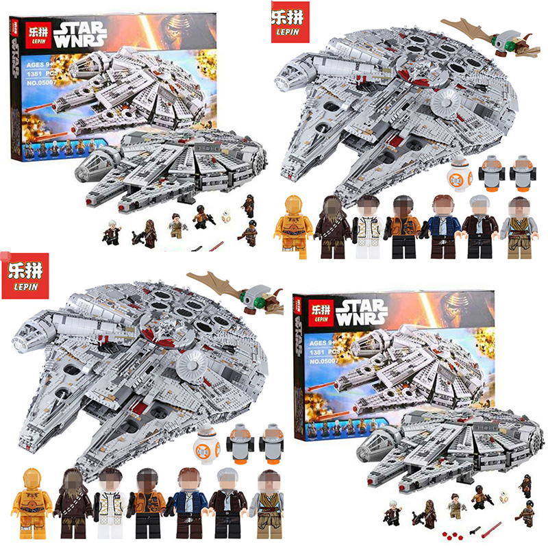 LEPIN 05007 05132 Srar Building Blocks Brick Wars 75192 Children Toy Awakens Millennium Falcon Model Compatible 10467 ynynoo lepin 05007 star assembling building blocks marvel toy compatible with 10467 educational boys gifts wars