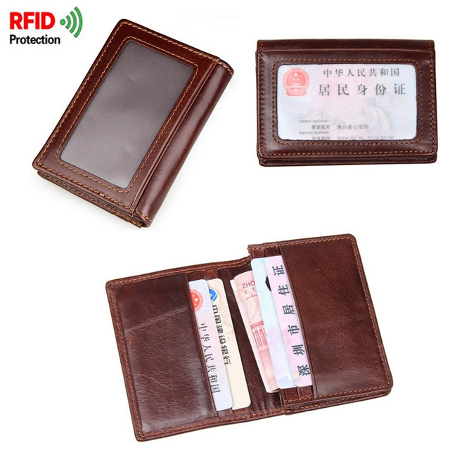 watch 93237 2a769 US $7.43 21% OFF|Osmond RFID Men Card Wallet Genuine Leather Credit Card  Holder Male Purse Protection Cover Case For Cardholder Folding Wallet-in ...