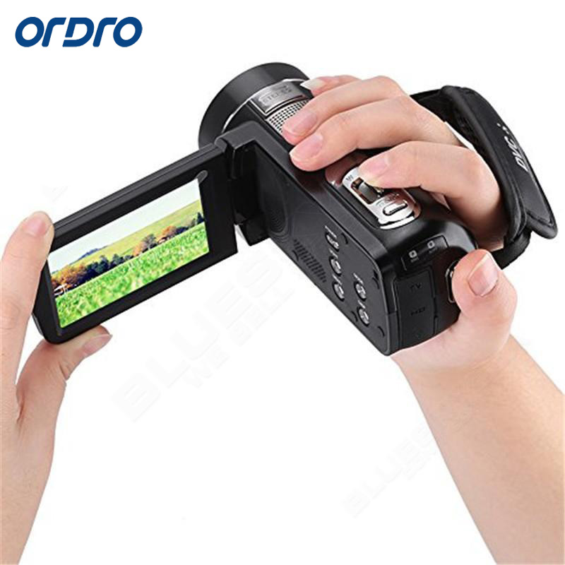 ORDRO Z8 PLUS 1080P Full HD Digital Video Camera 24MP 16X Option Zoom CMOS Anti-Shake Camcorder with 3.0 inch Touch Screen