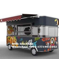 4.2m elektryczny wózek do przewozu żywności ruchomy wózek do jadalni outdoor street