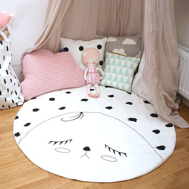 Children Kids Smile Face Blanket play mat,baby kids game mat kids Room Decor children kids Photography Christmas Birthday GIFT
