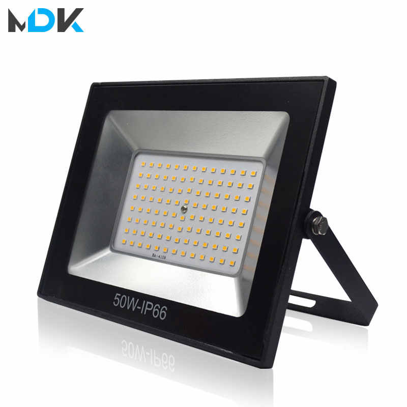 220V LED FloodLight 10W 30W 50W 100W Reflector LED Flood Light Waterproof IP66 Spotlight Wall Outdoor Lighting Warm Cold White