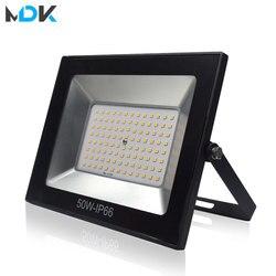 220V Светодиодный прожектор светильник 10 Вт 30 Вт 50 Вт 100 Вт отражатель светодиодный прожектор светильник Водонепроницаемый IP66 Точечный свети...