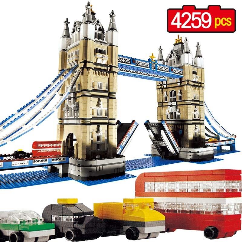 Grandi Blocchi di Costruzione Techni Città Creatore Compatibile LegoINGLY World Architecture London Tower Bridge Giocattoli Per I Bambini