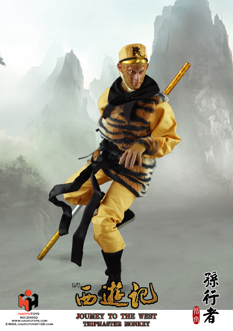 1 6 scale figure doll jurney to the west monkey king with 2 heads 12 action figures doll collectible figure model toy gift 1/6 scale Collectible figure doll Jurney To The West-Monkey King with 2 heads 12 action figure doll Plastic Model Toys