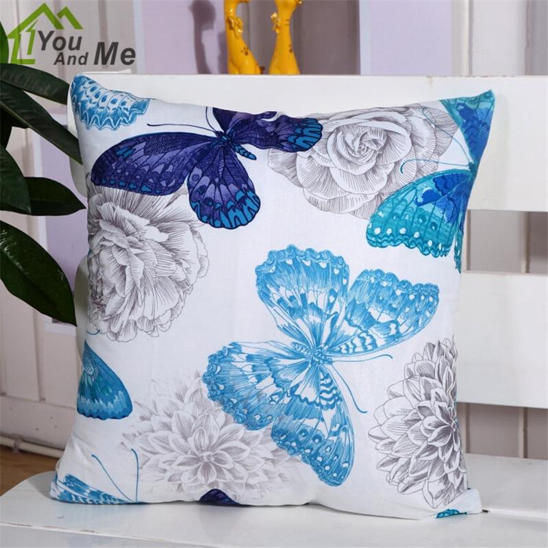 European Car Decoration Throw Pillow Case Pretty Butterfly Shape Cushion Cover For Home Sofa Seat Chair Decorative
