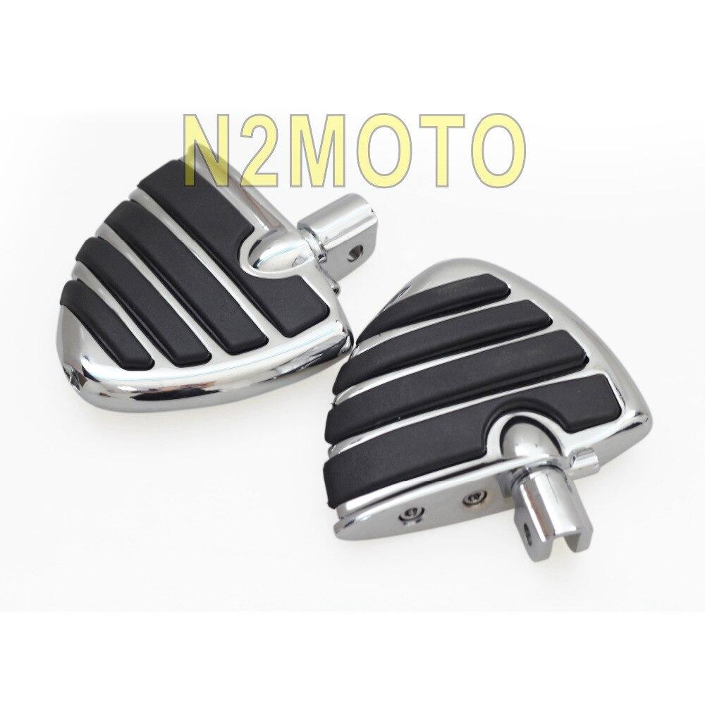 高品質クロームオートバイワイド翼スタイルフットレストスズキブルバード M109R M50 M90 GL1800 2005 2013  グループ上の 自動車 &バイク からの フットレスト の中 1