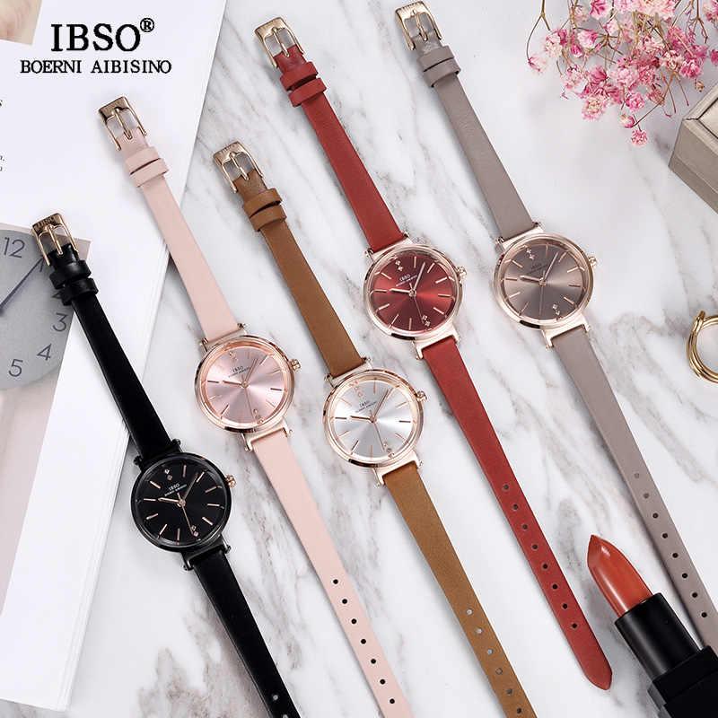 IBSO 8 MM Ultra-Dünne Handgelenk Frauen Uhren Luxus Weibliche Uhr Mode Montre Femme 2020 Damen Quarzuhr Relogio feminino