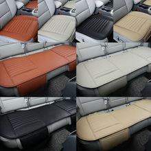 3pcs Car Seat Cover Breathable Bamboo Pad Mat PU Leather for Auto Chair ushion Black/ Beige/ Grey/ Orange babyhit log s seat bbc 513 beige orange