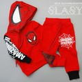 Spider-man suit boy children with thick warm clothing for the winter boys and girls establish new income 2014 autumn