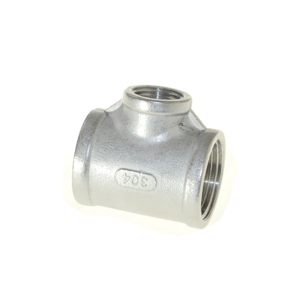 1/8-4 Tee 3 way reducer Female Stainless Steel 304 Threaded Pipe Fitting NPT Hot