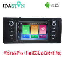 JDASTON 1 DIN Octa Core 2GB Ram Android Automobile DVD Participant For BMW E39 X5 E53 Automobile Radio Multimedia GPS Navigation 3G/4G Bluetooth