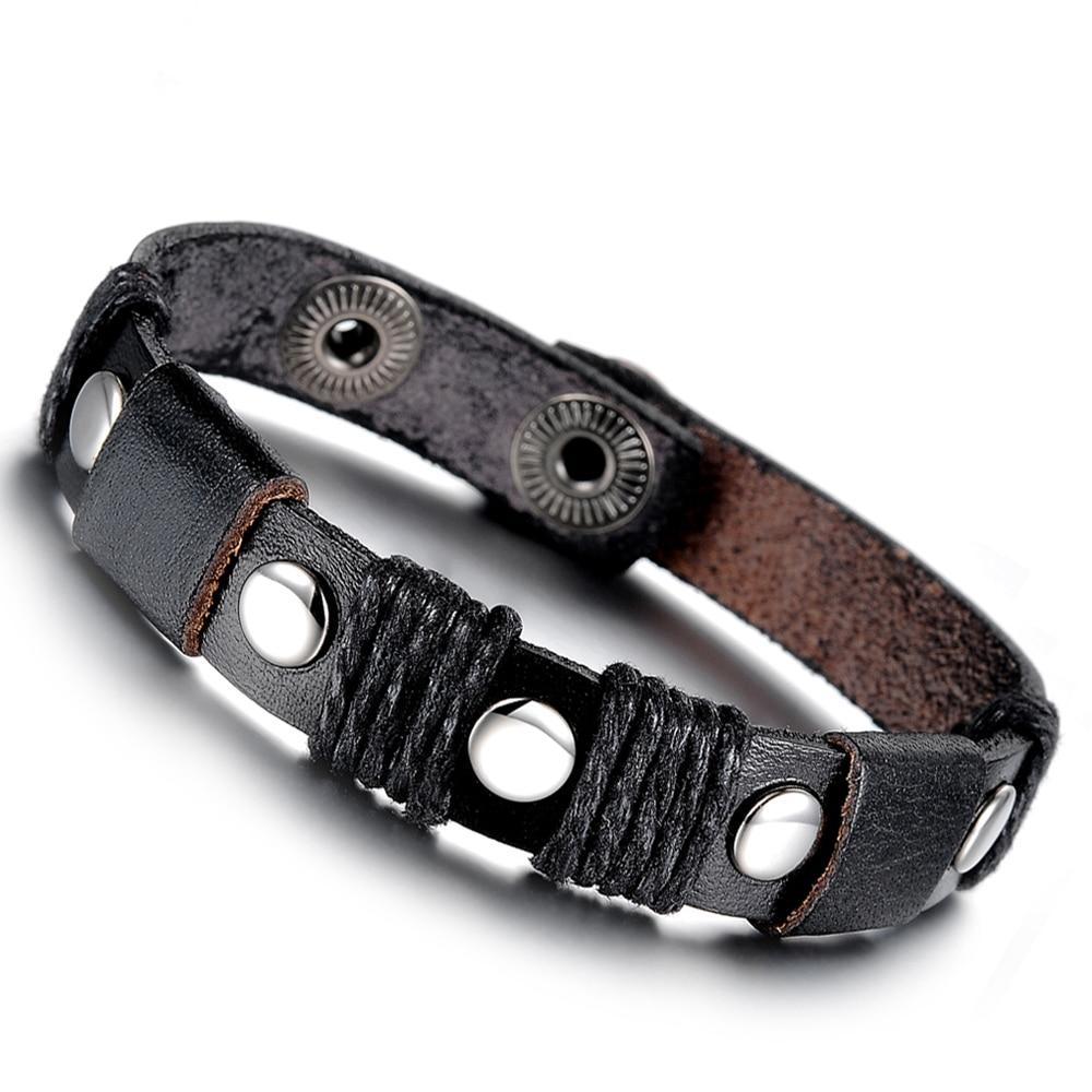 ჱCuero hechos a mano pulsera accesorios de la joyería de la ...