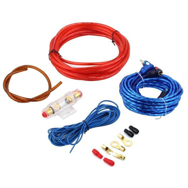 Special Price New 8GA Car Power Subwoofer Amplifier Audio Wire Cable Kit with Fuse Holder For Car subwoofer installation