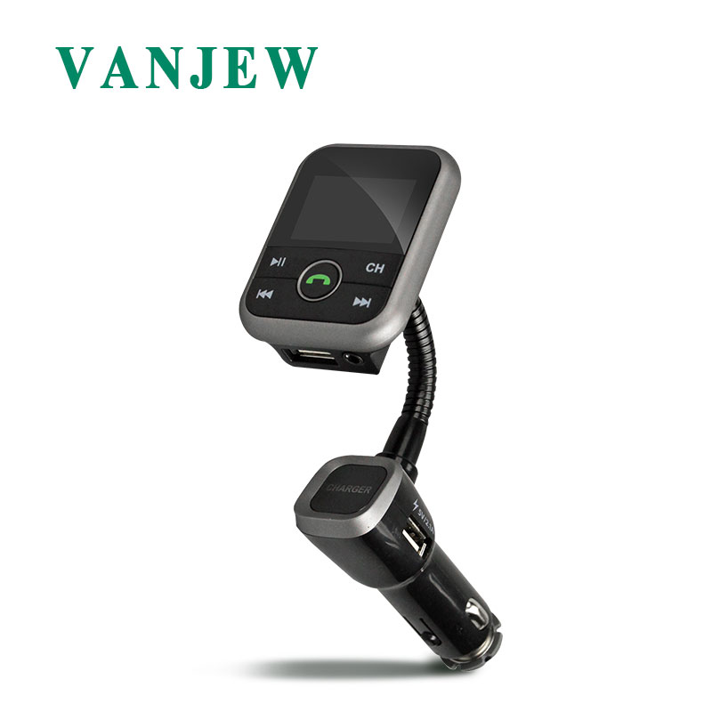 Vanjuif BT67 FM transmetteur Aux modulateur Bluetooth mains libres appel voiture Kit voiture Audio lecteur MP3 Transmiter double USB chargeur de voiture