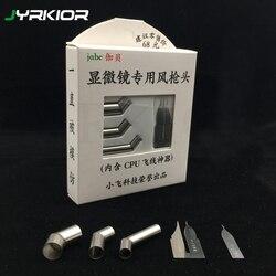 45 derece açı ısı tabanca memesi (kafa) + mikroskop uçan tel CPU Blade sıcak hava tabancası lehim havya istasyonu 861DW vb