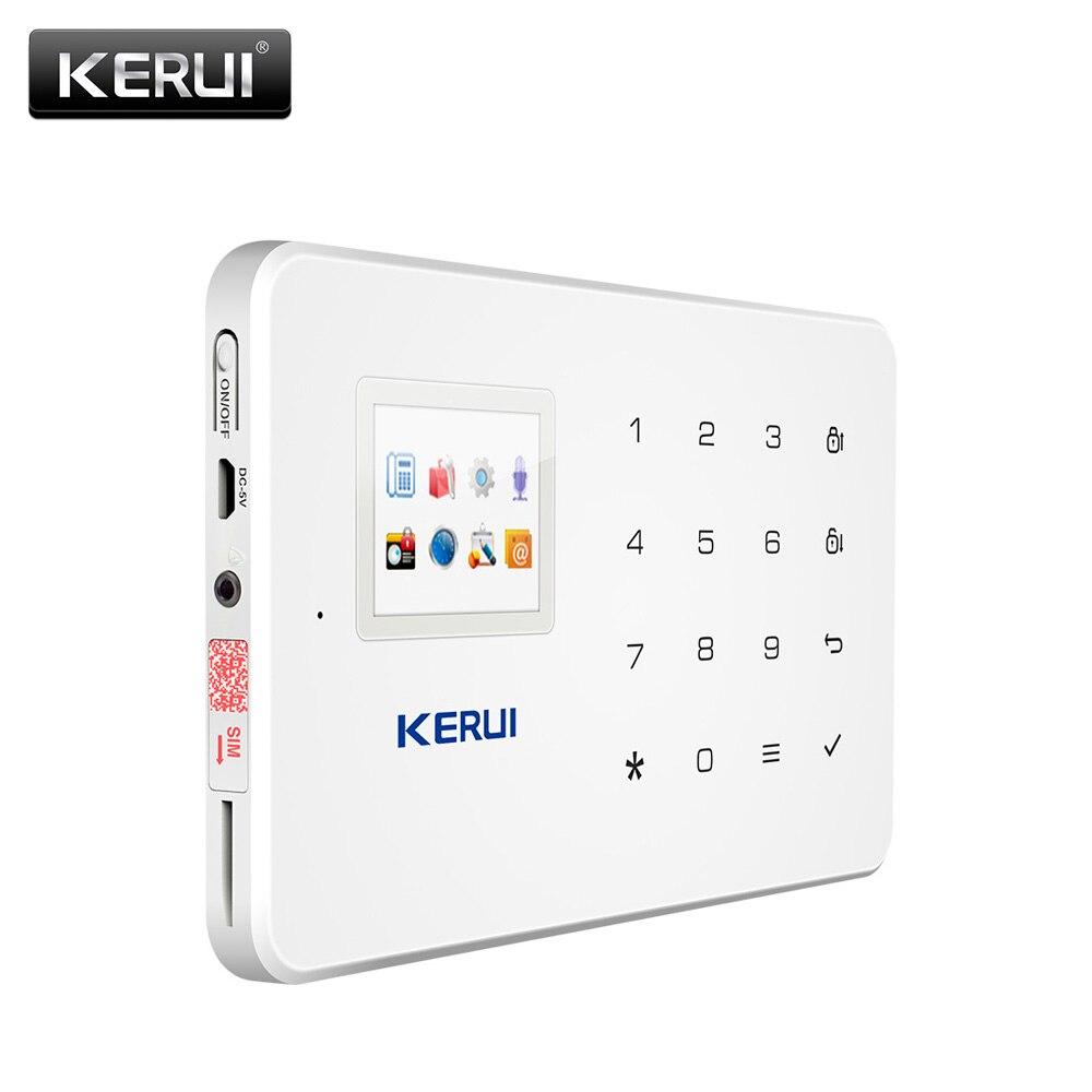 KERUI 1,7 дюймов экран TFT GSM домашняя охранная защиты приложение Управление Встроенная сирена с дверью Сенсор сигнализации