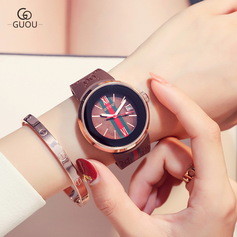 2018 Fashion sport silikone ure kvinder damer kvarts kreative - Dameure - Foto 2