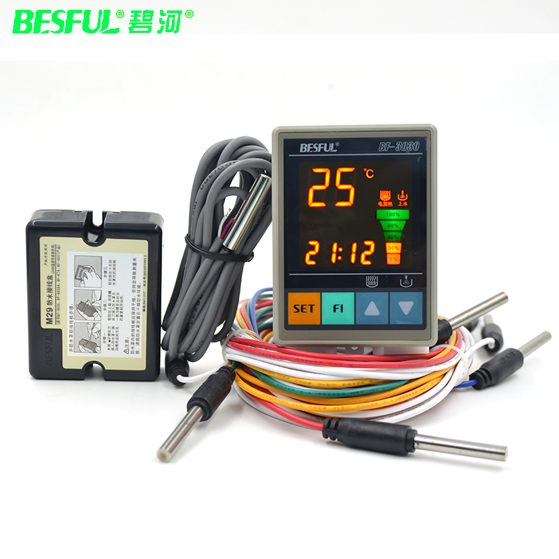 Free shipping BF-3030 Solar Heat Pump Temperature Timing Temperature Control Water Temperature Level Water Level Display Control цена