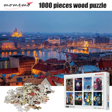 MOMEMO Puzzle 1000 Pieces City At Night Landscape Jigsaw High Definition Wooden Adult Decompression Puzzles Children Toys