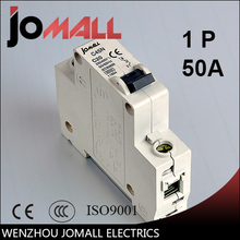 цена на C45N 1 pole 50A C type mini circuit breaker mcb Mounting 35mm din rail Breaking Capacity 6KA