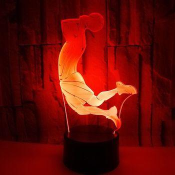 الصانع المباشر النار 3d ليلة مصباح الإبداعية الذكية ضوء led للديكور المنزلي ستيريو الجدول Lamsp جو 3d مصباح