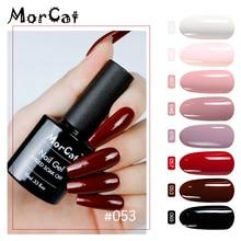 MorCat Nail Gel Polish Wine Red UV Varnish Soak Off Color Vernis Semi Permanant Art