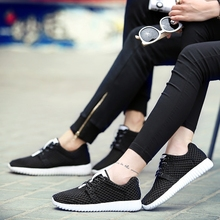 cheap free shipping air mesh fabric women loafers black white color cloth patchwork leisure canvas shoes for mans cool sneakers