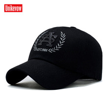 UNIKEVOW New arrivel  Outdoor caps for men and women 100% cotton baseball Casual hat with PU embroidery