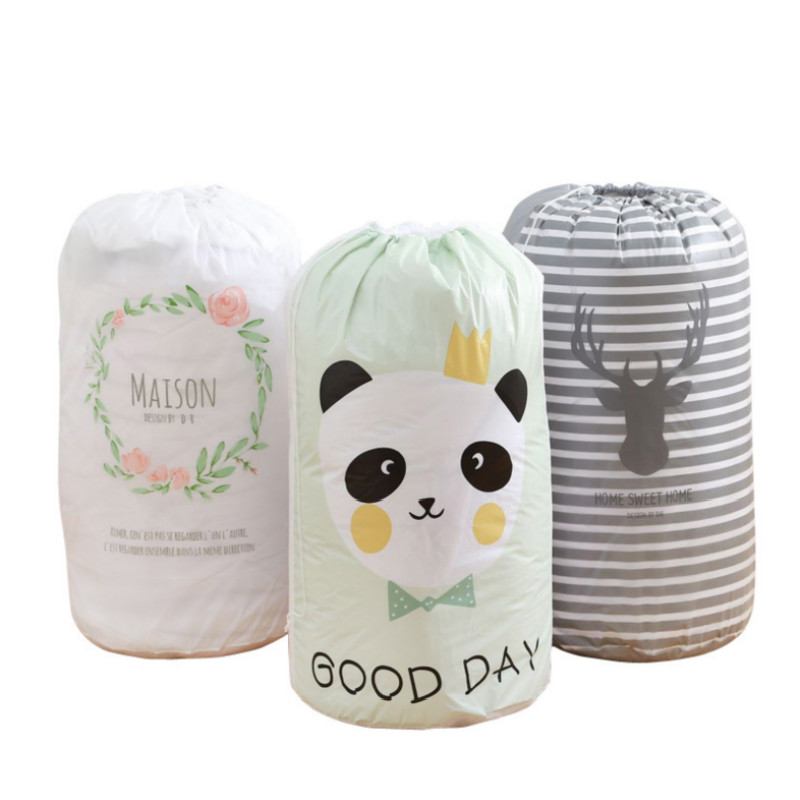 Multipurpose Large Capacity Drawstring Storage Bags Cartoon Pattern Laundry Pouch Kids Toys Storage Bag Room Organize Bags