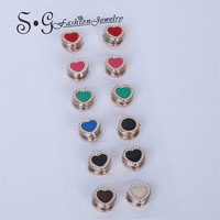 Wholesale Classic Heart Shape Brooches Women Elegant Jewelry Accoessories Muslin Hijab Pins Scarf Buckle Magnet Brooches