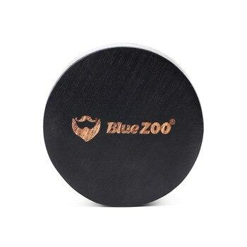 BlueZoo-cepillo de barba hecho a mano, cerdas de jabalí, bigote, peine de madera Natural, Mini Kit de cuidado para hombres, barbas, bigote, 2097