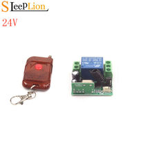 Sleeplion DC 24V 10A Relay 1CH Wireless RF Remote Control Switch Transmitter & Receiver 24V Relay Switch Module 315/433MHz(China)
