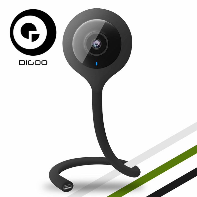 Digoo DG-QB01 QB01 Smart Home IP Camera Baby Monitor Mini Flexible 720P 2.1mm Lens Wireless WIFI Night Vision Talking Camera digoo dg bb 13 mw 9 99ft 3 meter long micro usb durable charging power cable line for ip camera device
