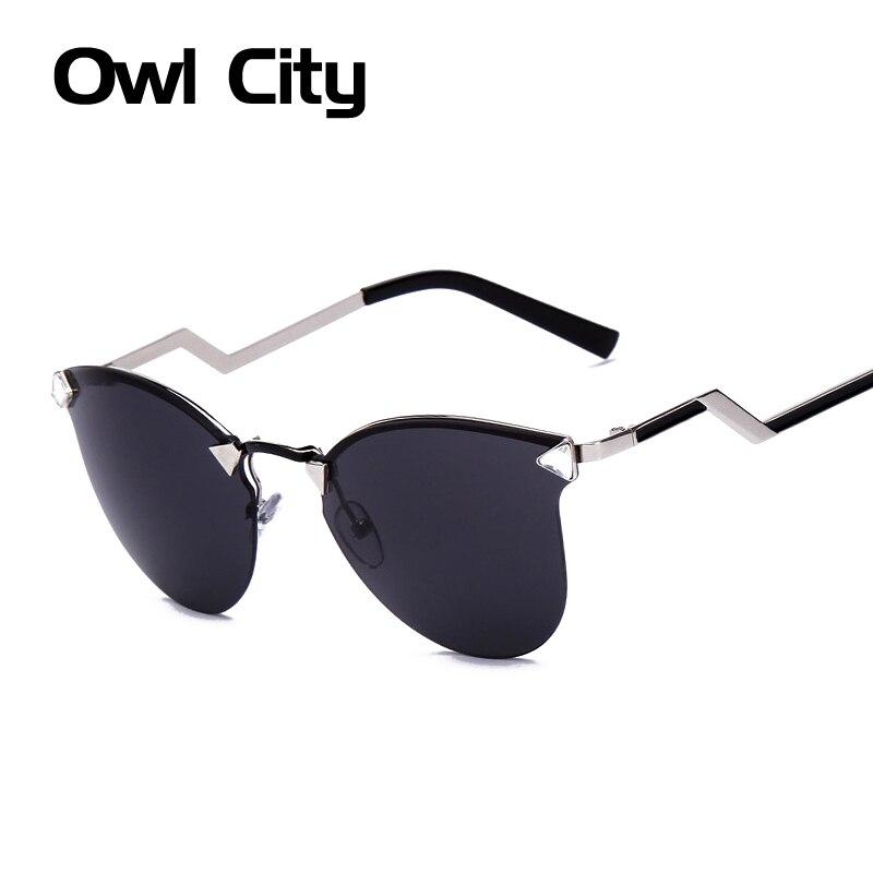Verão CAT eye óculos de armação de METAL mulheres óculos de sol 7 cores Reflective óculos óculos de sol feminino 15096