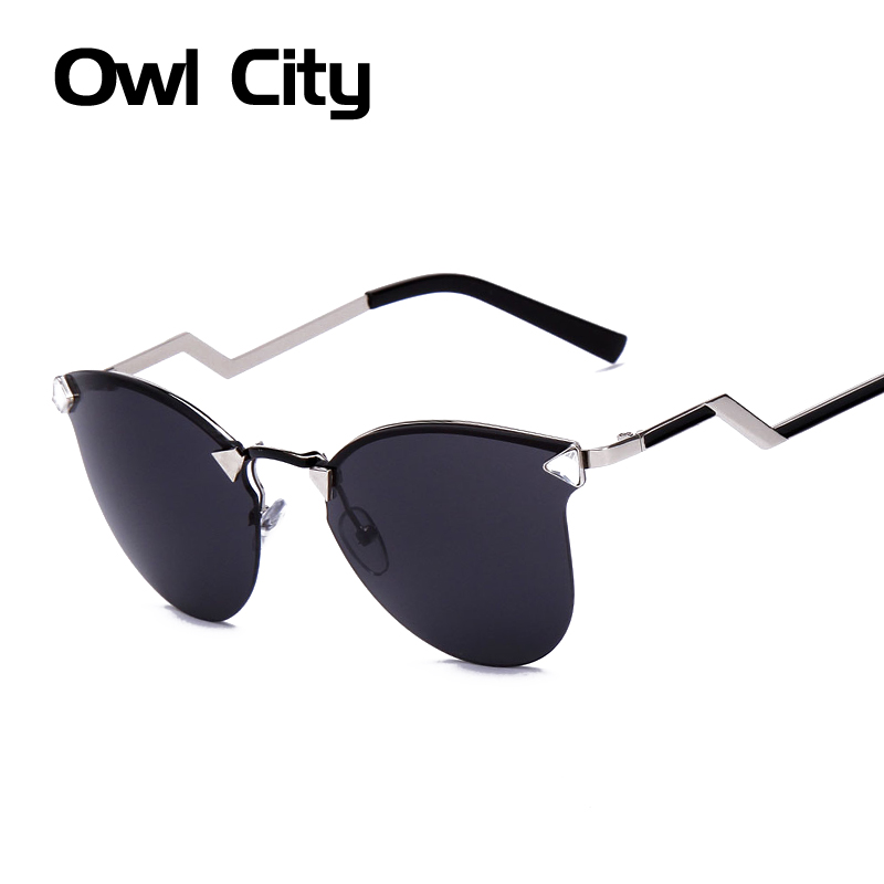 Women Sunglasses Vintage Metal Leg Sun glasses Cat eye Shades Luxury Brand Designer Eyewear