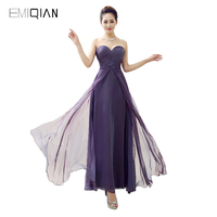 Original Design Simple A Line Sweetheart Purple Chiffon Prom Dresses Prom Gown