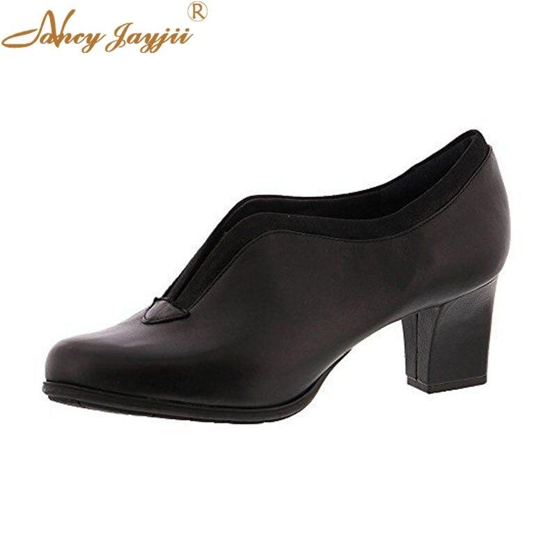 Slip Señoras Punta Básica Ty01 Redonda Tacones Para Novedad Mujer Madura Zapatos Elegante Cuadrados Alta on Sólida De Ocio Bombas Dulce 2019 qPtR1