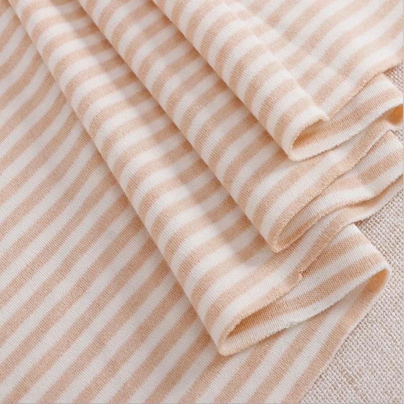 Organische Gebreide Fabric100 % Natuurlijke Katoen Streep 170 cm breedte 190 gram ondergoed kleding stof 10 meter kleine groothandel NC07-in Stof van Huis & Tuin op  Groep 1