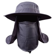 469200a5c0c Outdoor Hiking Camping UV Protection Face Neck Cover Fishing Cap Visor Hat  Neck Face Flap Hat