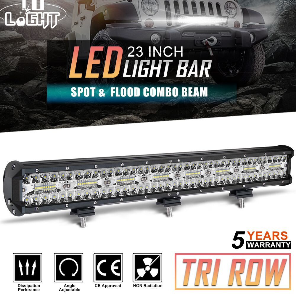 CO LIGHT 23inch 3 Rows LED Bar 480W LED Light Bar Spot Flood Combo Auto Offroad Work Light 12V for Tractor Boat 4WD 4x4 SUV ATV new 30w led light bar 12v flood spot led work light bar led driving light for offroad atv 4x4 truck boat tractor marine