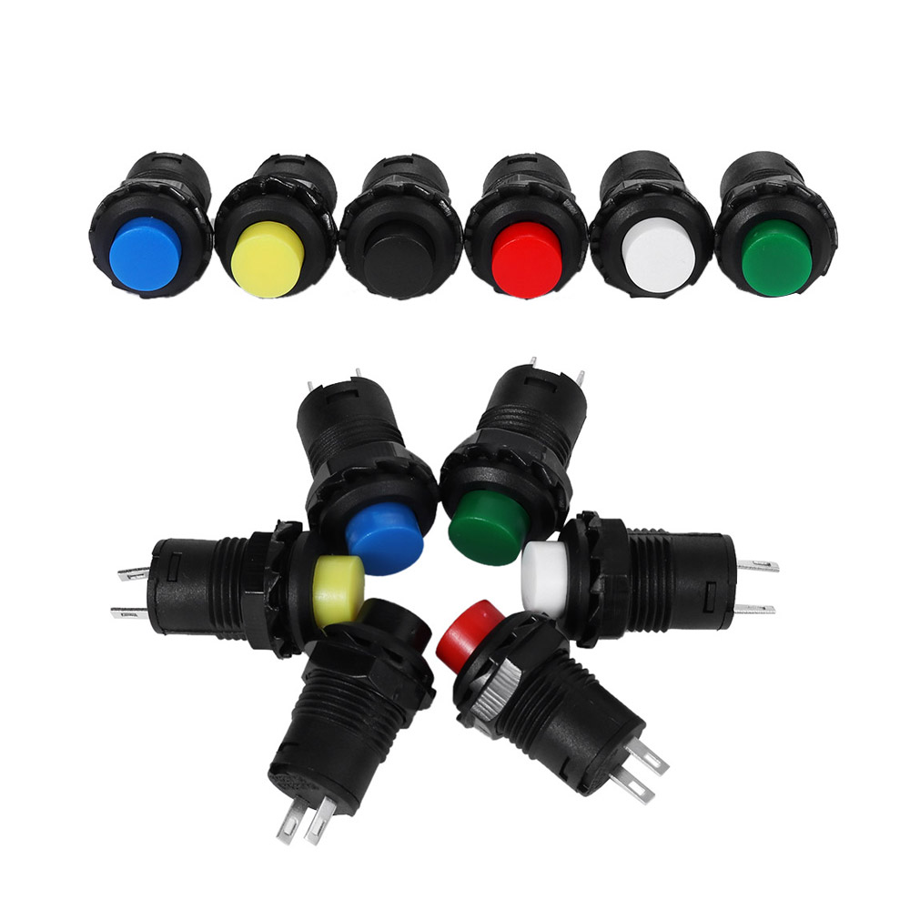 Hot Durable Horn Switchs 12mm  Push Button Car Start Momentary Switch Colour